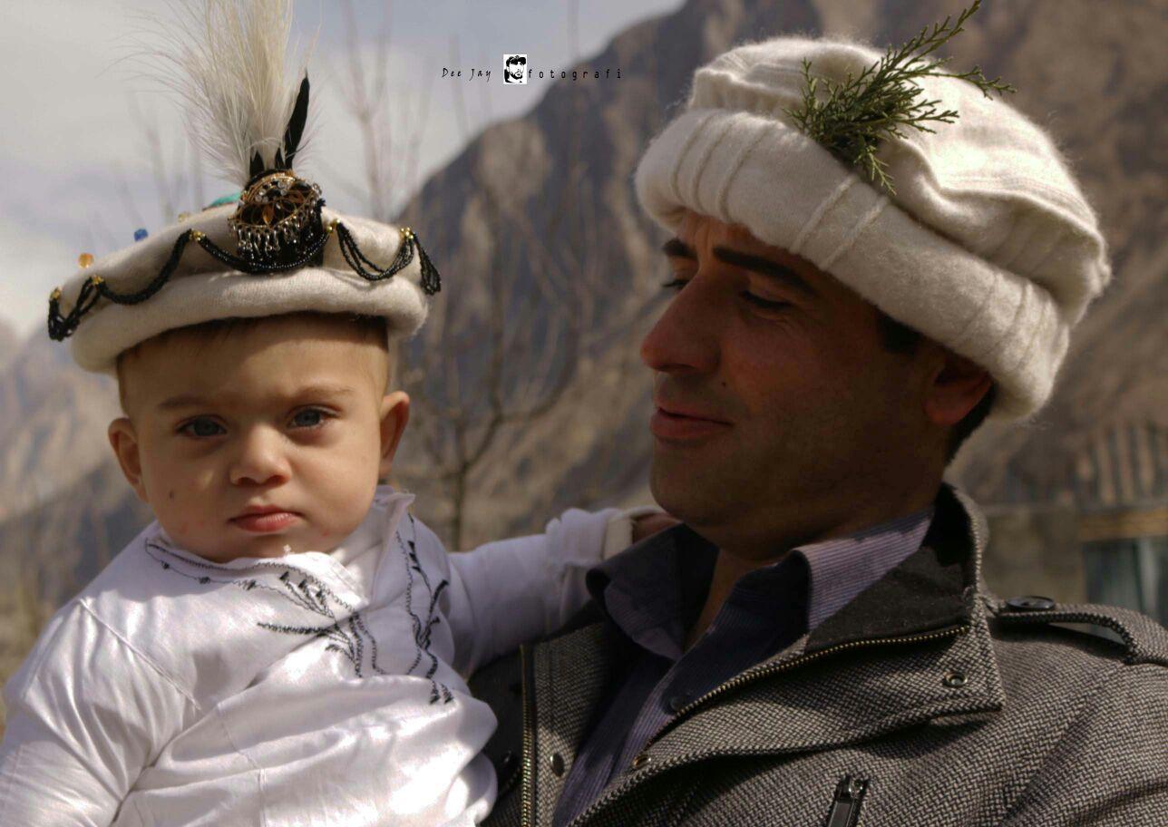 A child prepared for the 'initiation' ceremony in Gulmit. Photo: Deedar Ali