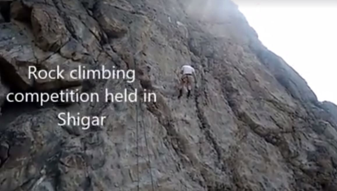 Rock climbing competition held in Shigar