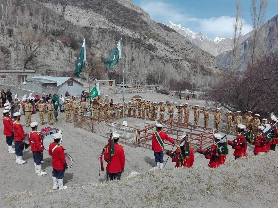 Homage being paid to martyrs in Gulmit village of Gojal. Hunza