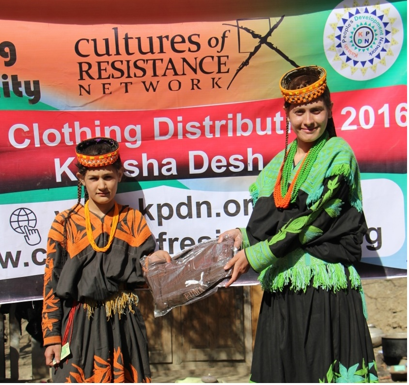 KPDN and Culture of Resistance join hands to provide warm cloths to children of the Kalash Valleys