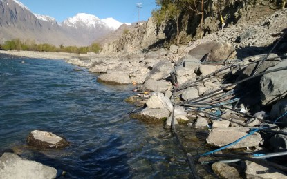People in Gilgit city drinking contaminated water