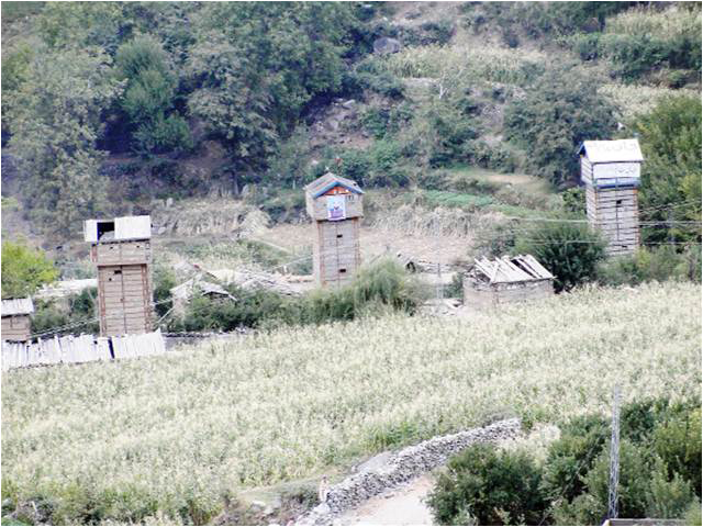 Houses of two militants demolished in Darel Valley
