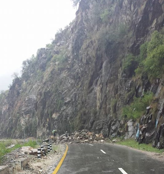 Torrential Rainfall: Roads to Giglit-Baltistan, Chitral, blocked