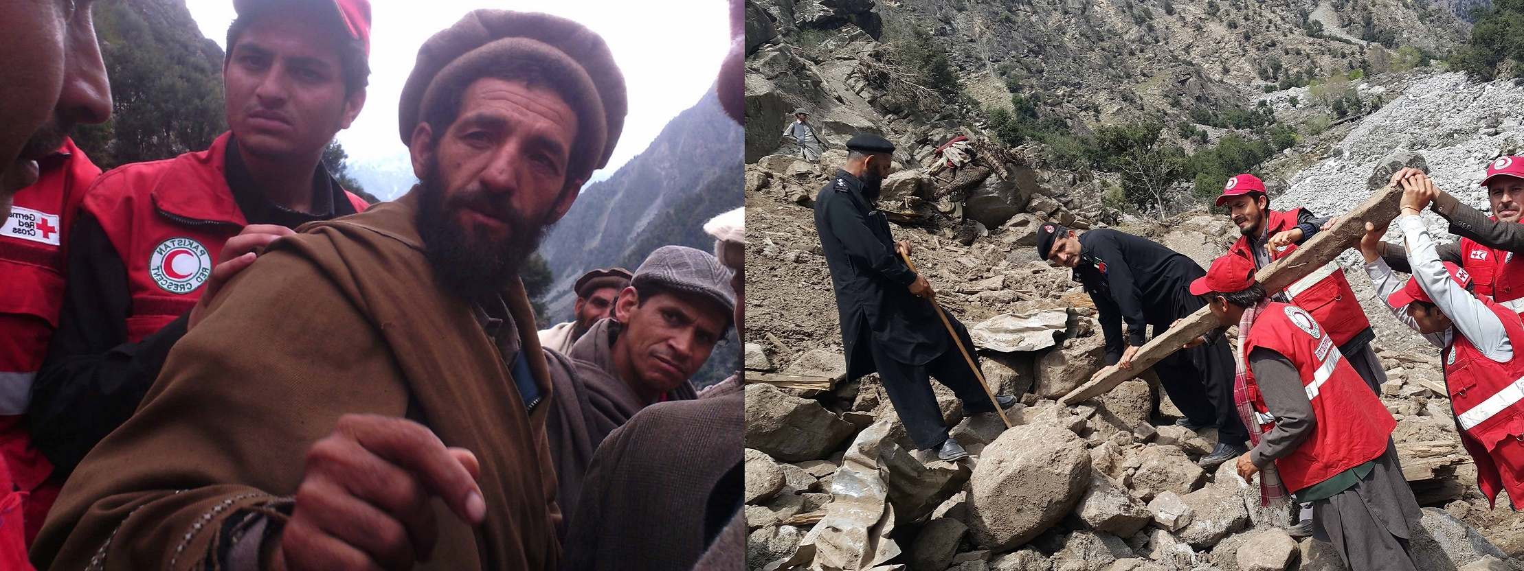 The man who lost 15 family members due to a landslide in Uthoor Bari village of Kohistan