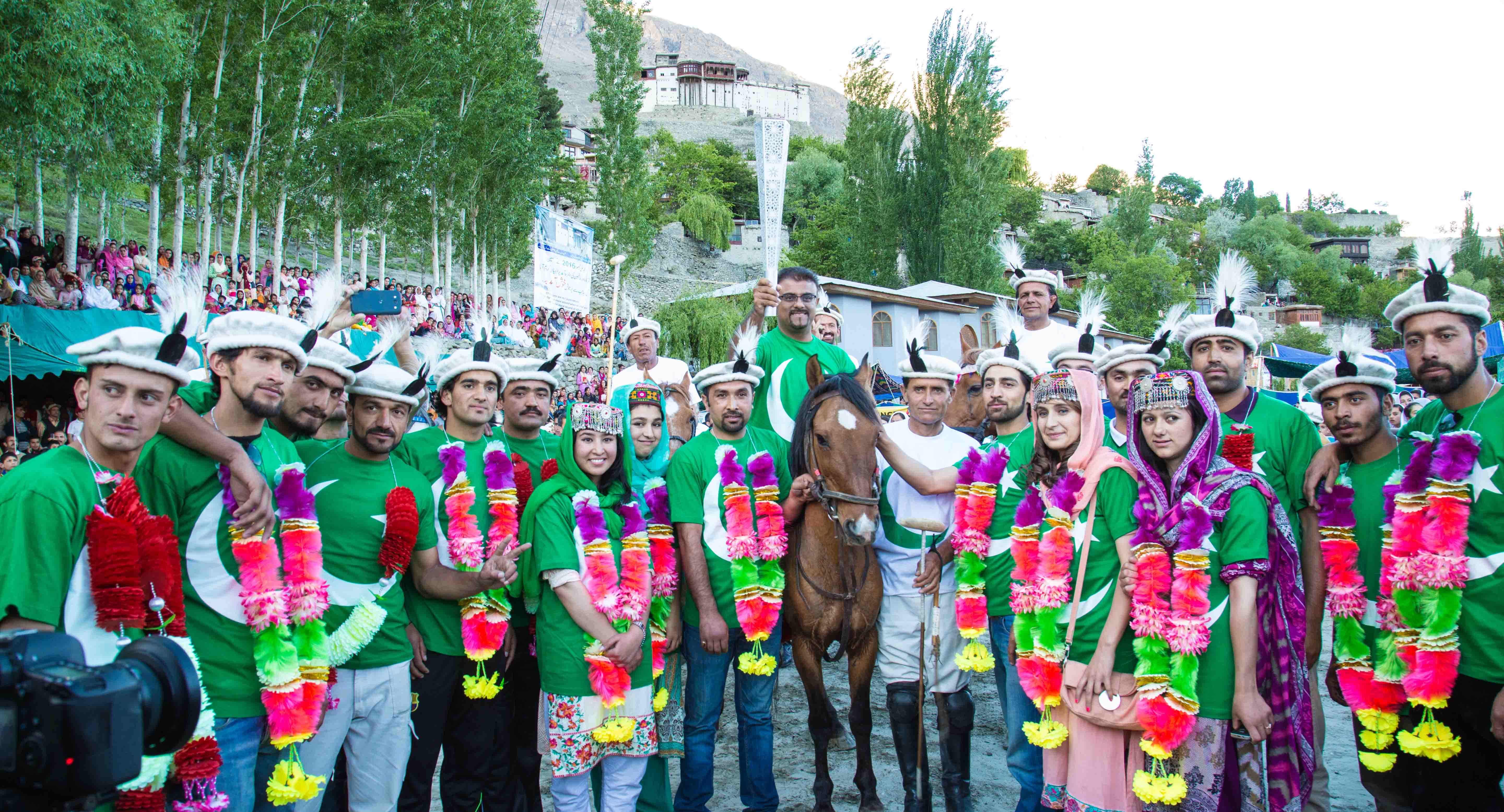 Fanous of  Jubilee Games 2016 warmly received in Hunza Valley