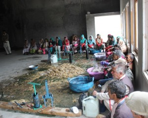KADO and ICIMOD train women and men in Hunza on Bio-Briquettes Production