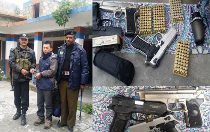 Chinese citizen arrested from Khunjerab, arms and ammunition recovered