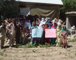 Chitral: Women protest to save their houses and walnut trees