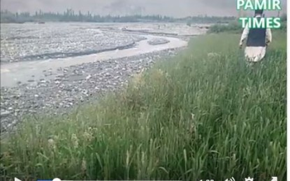 Land erosion affecting farmers in Chorkah area of District Shigar