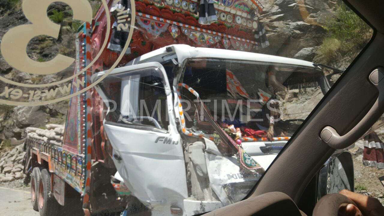 The truck witch which the coaster collided can be seen in this latest photograph