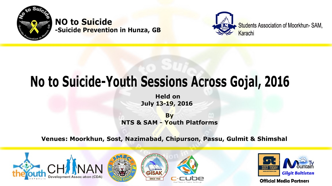 Young activists to launch weeklong anti-suicide awareness drive in Gojal Valley