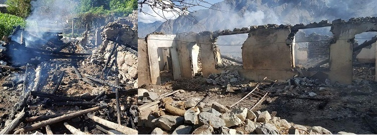 Miscreants torch houses in Thore Valley of Diamer