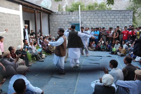 Traditional dance performing by elders