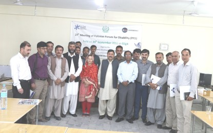 27th Meeting of Pakistan Forum for Disability held in Gilgit