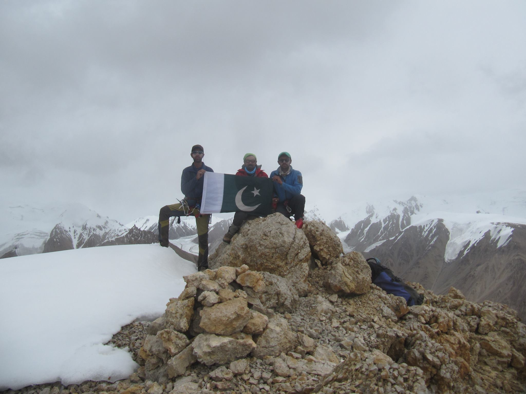 Three Shimshali rock climbers summit 6000 m high 'Sher Peak'