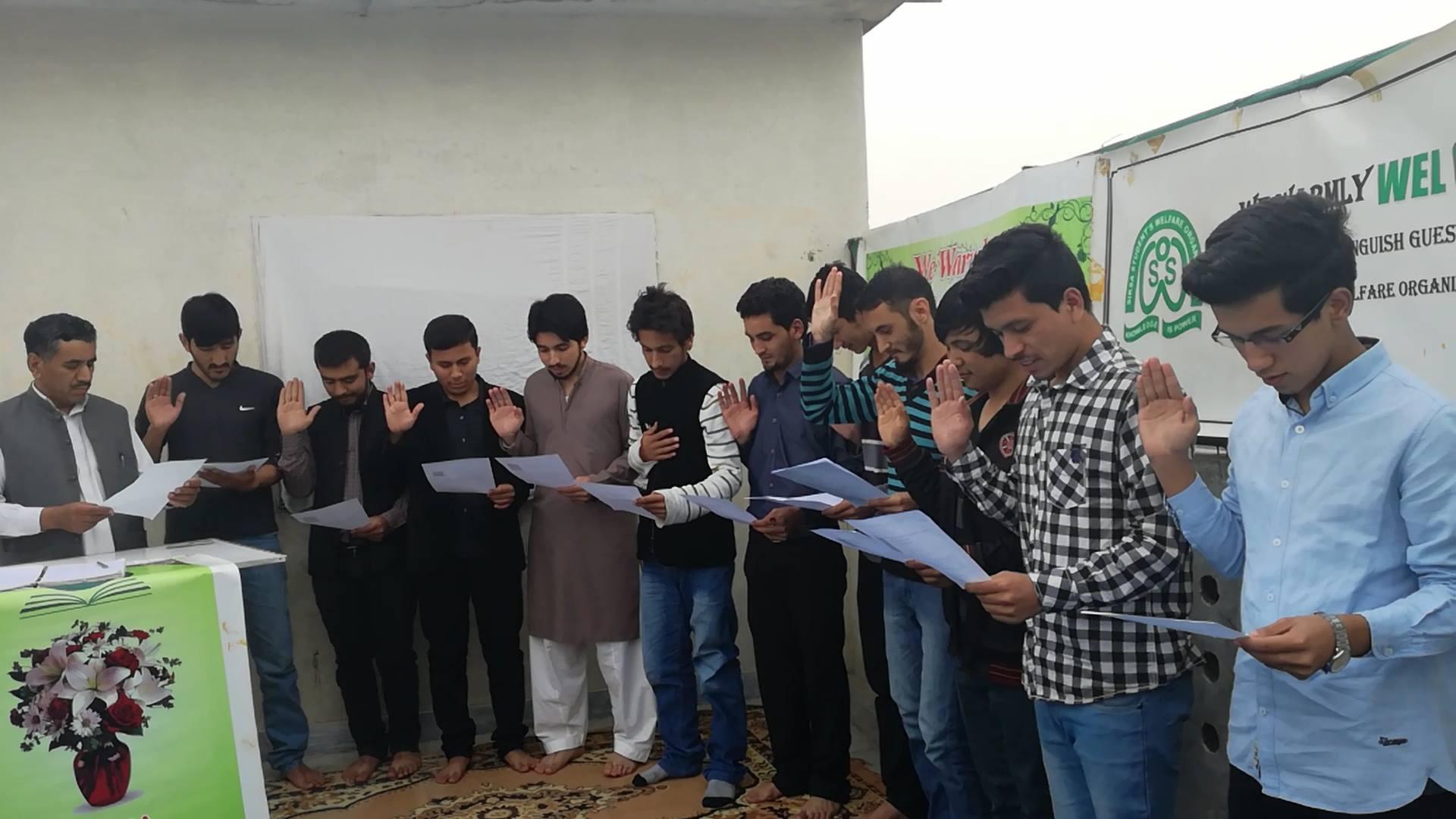 Cabinet of Siksa Students Welfare Organization(SSWO) Punjab Sworn In