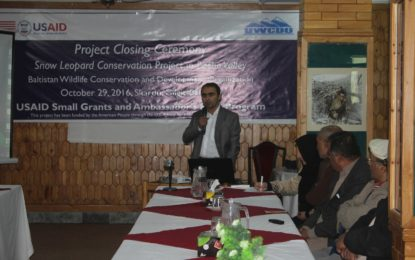 Snow Leopard Conservation Project in Basho Valley comes to an end