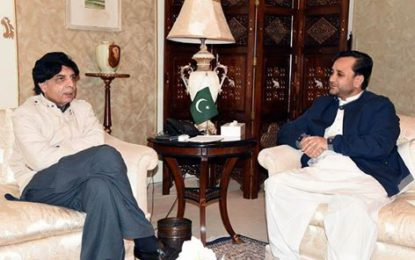 Nisar, Hafeez discuss law and order situation in in Gilgit-Baltistan