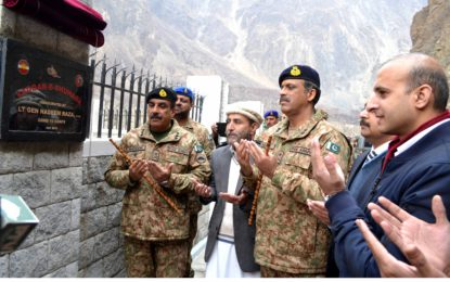 Commander 10 Corps inaugurates Yadgar-e-Shuhada at Nagar district in Gilgit-Baltistan