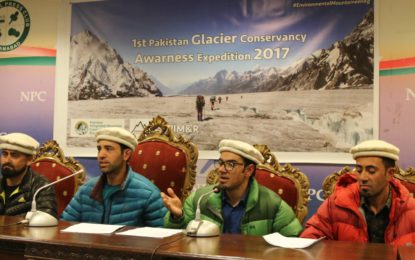 Mountaineering for a Cause: Mountaineers from Shimshal valley resolve to save Glaciers