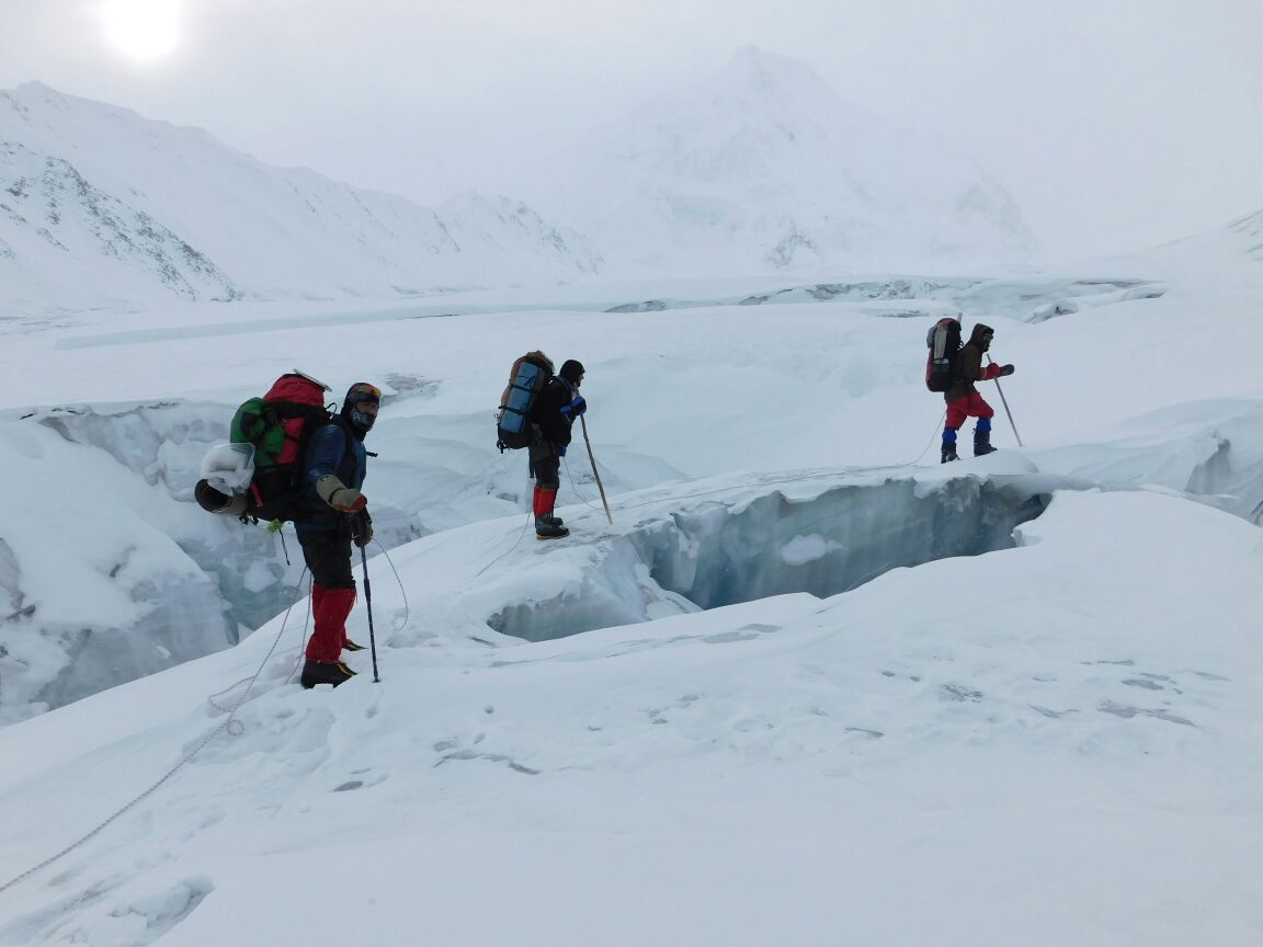 Walking across four glaciers in the winter is an easy feat for these Shimshali mountaineers
