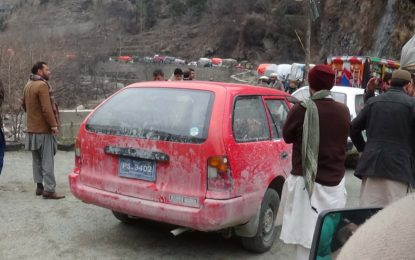 Kalasha woman killed, three men injured in road mishap