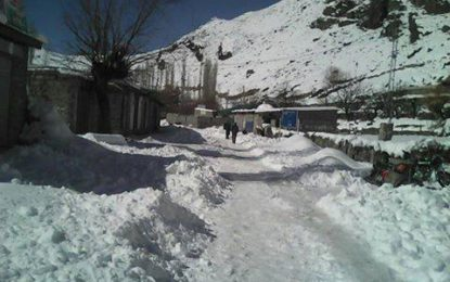 Snowfall disrupts life in Phandar Valley