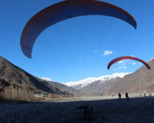 Youth trained in paragliding in Chitral