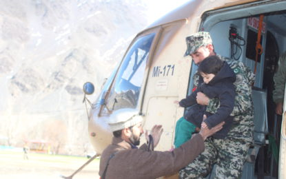 Chitral: Army choppers airlift stranded people, including patients