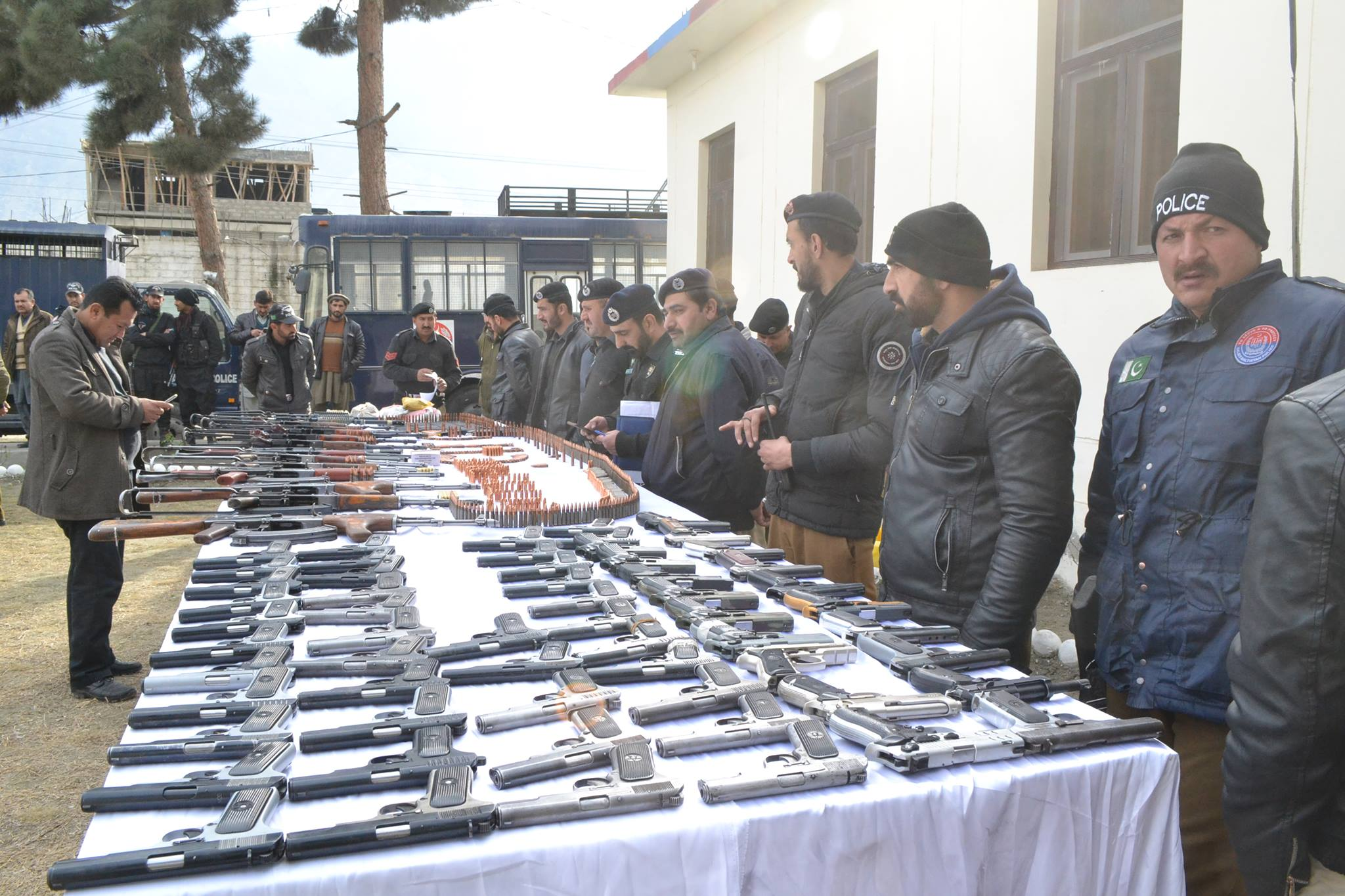 Gilgit Police Foils Terrorism Plot: Huge Cache Of Arms & Ammunition Recovered From Car