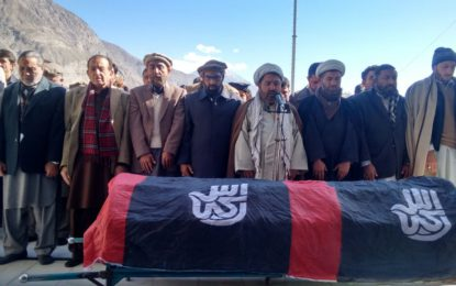 Member GBLA Muhammed Ali Sheikh laid to rest in Ghulmet Nagar.