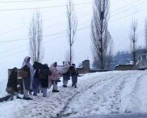Heavy snowfall cripples life in Hopper and Nagar Khas