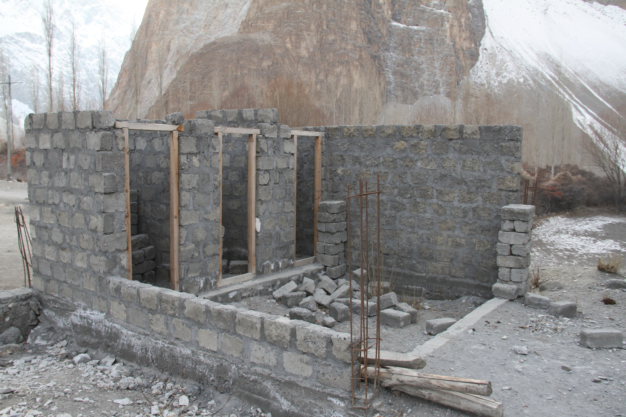 This primary school in Jamalabad (Gojal Valley) has been under-construction for 10 years