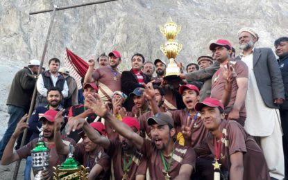 Khudabad Royal Club wins Hunza District T20 cricket tournament played in Passu