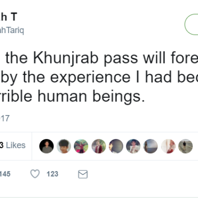 "Tourist says she was ""seriously harassed"" by Lahori boys at Khunjerab Pass"