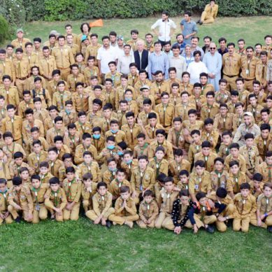 347 members of the Ismaili Boys Scouts Association Gilgit take part in cleanliness drive