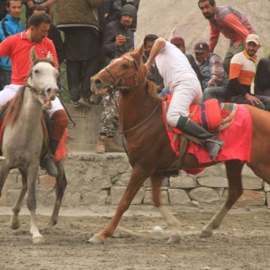 Polo match played between Chipursan Babaghundi and Chipursan United teams in Gulmit