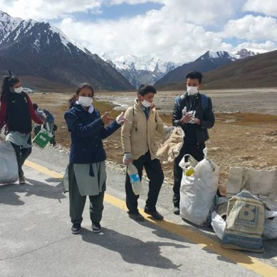 Cleaning of the Khʉnžrav National Park