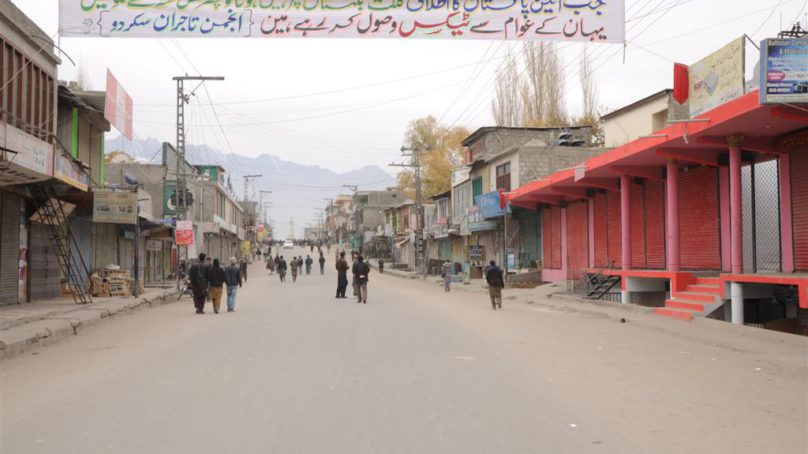 Shutter-down observed in Chilas against imposition of taxes
