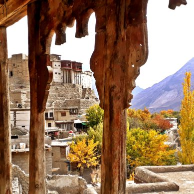 Baltit Fort dominates the beauty of Autumn in Hunza