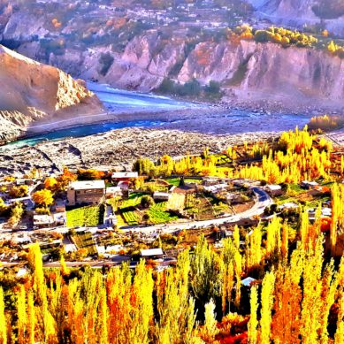 Stunning Autumn Colors of Ancient Ganish Settlement in Hunza