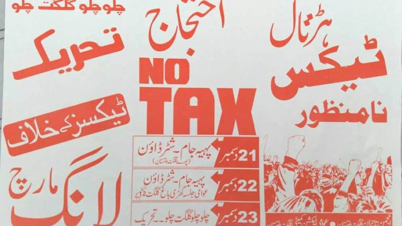 Anti-Tax protests to intensify in Gilgit-Baltistan