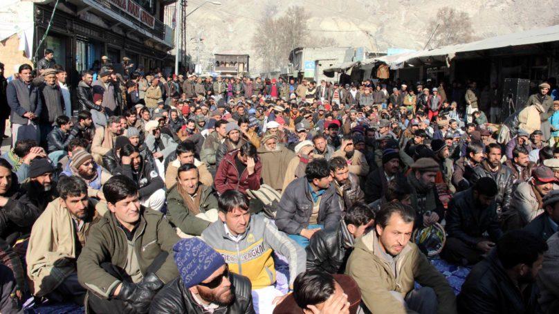 Thousands of govt employees in Gilgit-Baltistan start protest drive demanding permanent jobs