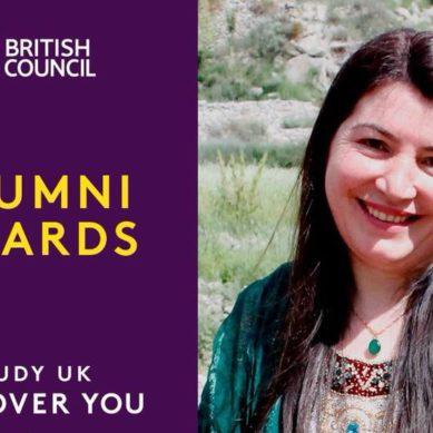 "Sosan Aziz from Gilgit-Baltistan a finalist for British Council's ""Social Impact Award"""