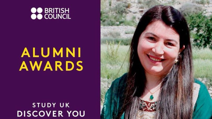 "Sosan Aziz from Gilgit-Baltistan a finalist for British Council's ""Social Impact Award"""