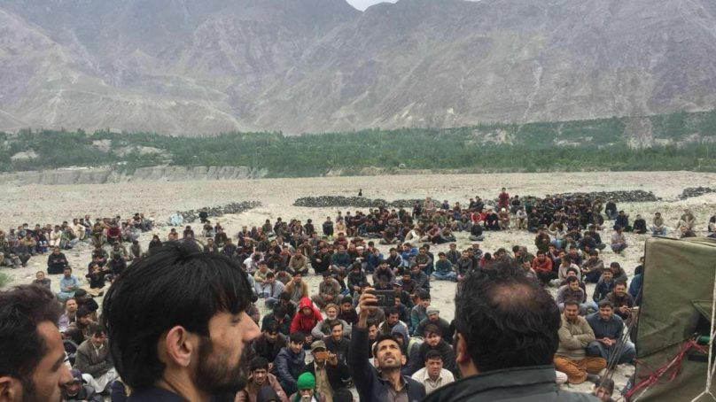 Nomal locals protest, accuse govt of 'forceful occupation' of land