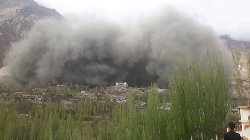 Two locals and a domestic tourist missing after massive landslide in Ultar, Hunza