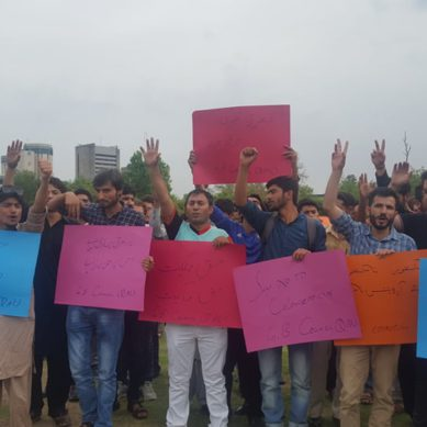 "Students protest against Govt of Gilgit-Baltistan Order 2018, calling it a ""Black Law"""