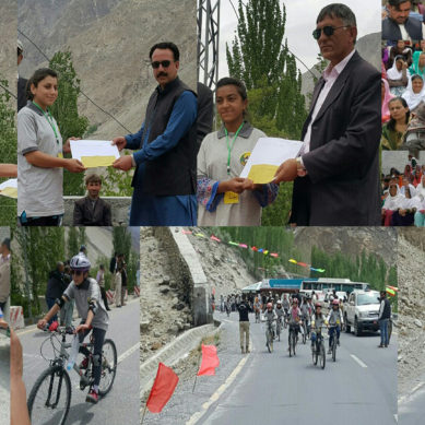 Women's Tour De Khunjerab cycle race event concluded in Hunza