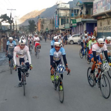 107 cyclists, including a team from Afghanistan, participating in Tour De Khunjerab
